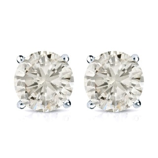 14k Gold 2ct TDW Round Diamond Stud Earrings (J-K, I2-I3)