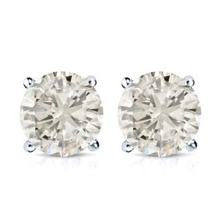 14k Gold 2ct TDW Round Diamond Stud Earrings (J-K, I2-I3)