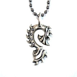 Bico Australia Fine Grade Pewter Tiger Claw Pendant Necklace