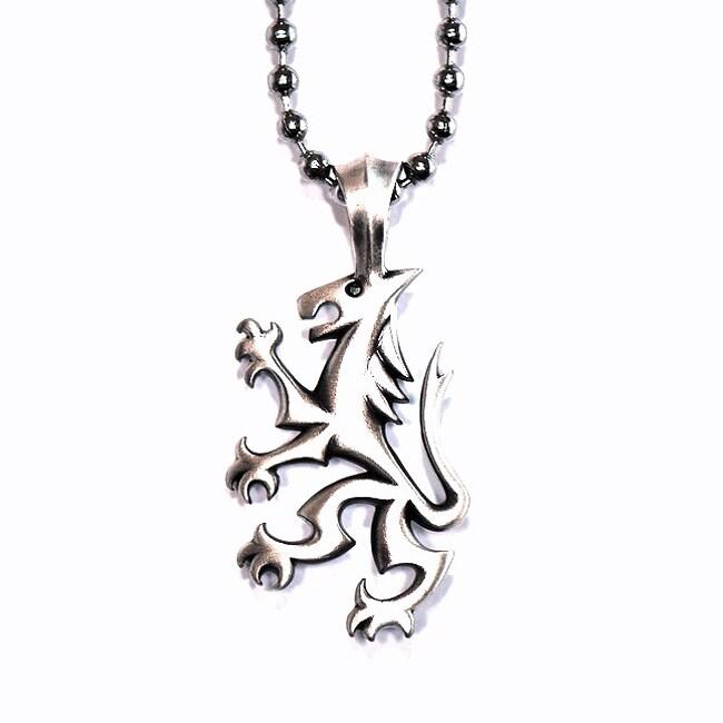 Bico Australia Fine Grade Pewter Manjusri's Lion Pendant Necklace