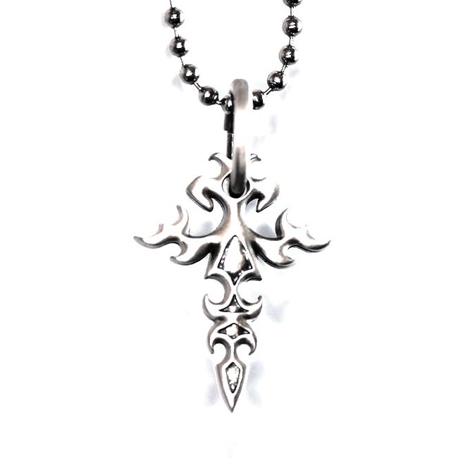 Bico Australia Fine Grade Pewter Fitchee Cross Pendant Necklace