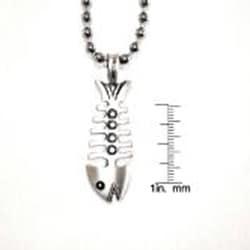 Bico Australia Silvertone 'The Fish' Necklace - Thumbnail 2
