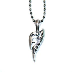 Fine Grade Pewter Outlaw Pendant Necklace