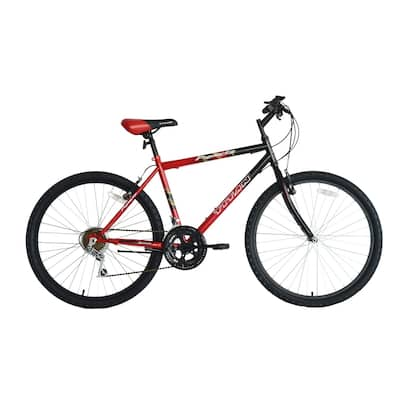 Titan Pioneer Men's 18-Speed Mountain Bike, Red