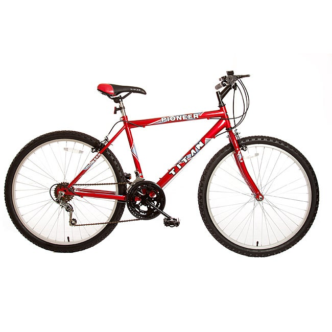Titan Pioneer Men's Red 12-Speed Mountain Bike