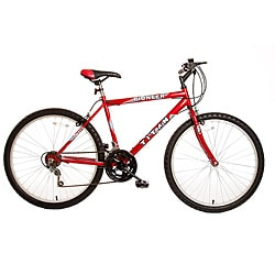 Titan Pioneer Men's Red 12-Speed Mountain Bike - Thumbnail 0