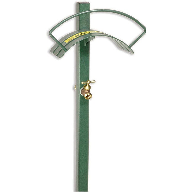 Lewis Tools Free Standing Hose Hanger W/ Faucet, Green