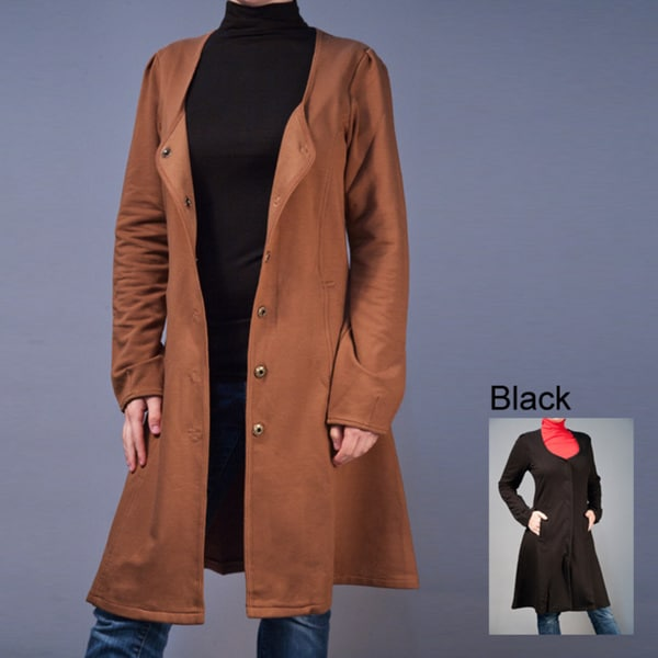 AtoZ Women's Deep Scoop Coat