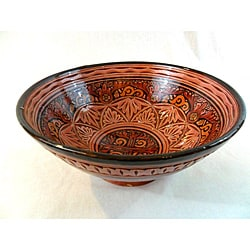 Large Engraved Catalina Ceramic Bowl (Morocco)