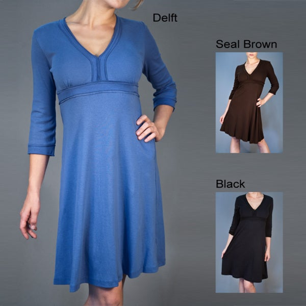AtoZ Women's Cotton V-neck Dress