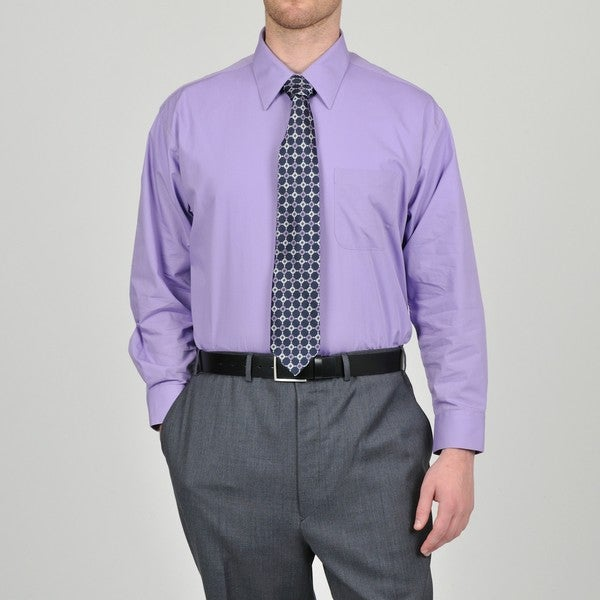 Alexander Julian Colours Men's Purple Heart Dress Shirt and 'Neat ...
