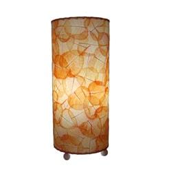 Handmade Orange Banyan Leaf Table Lamp (Philippines)
