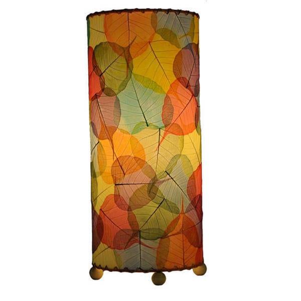 Handmade Multicolored Banyan Leaf Table Lamp (Phillipines)