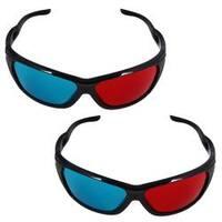 INSTEN 3D Eye Glasses with Frame (Pack of 2)