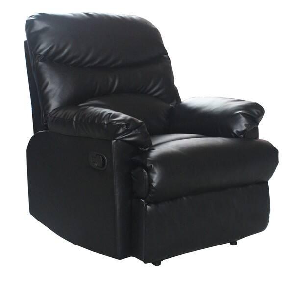 Enjoyable Shop Tucker Black Bonded Leather Recliner Free Shipping Pdpeps Interior Chair Design Pdpepsorg