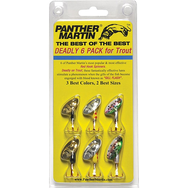 panther martin red hook spinner lure kit for trout (six-pack, Fly Fishing Bait