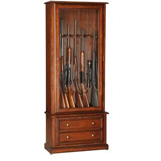 Classic Eight Gun Glass Door Display Cabinet