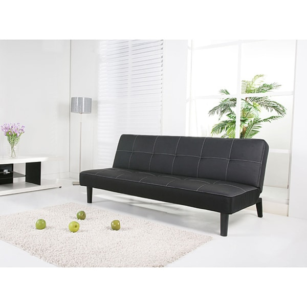 Columbus Black Futon Sofa Bed