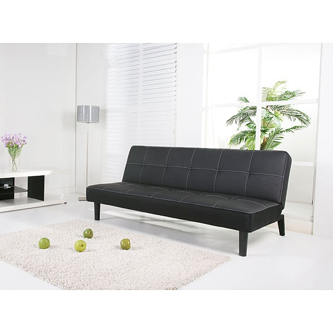Columbus Black Futon Sofa Bed Free Shipping Today