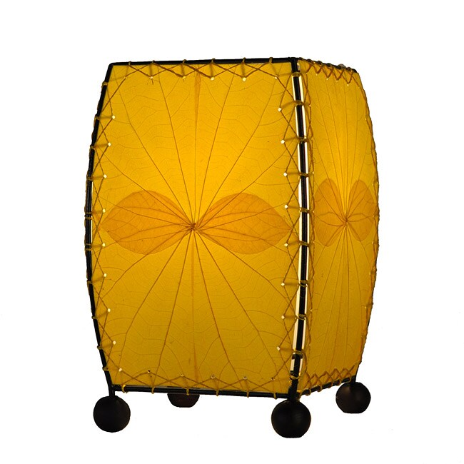 Handmade Yellow Mini Alibangbang Table Lamp (Philippines)