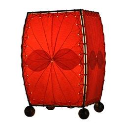 Handmade Red Mini Alibangbang Table Lamp (Philippines)