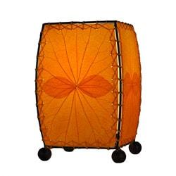 Handmade Tangerine Mini Alibangbang Table Lamp (Philippines)