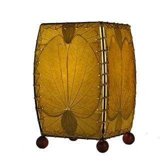 Handmade Natural Mini Alibangbang Table Lamp (Philippines)