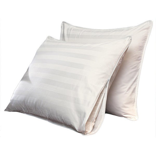 Famous Maker 500 thread Count Egyptian Cotton Triple Chamber Pillow with Protective Cover (Set of 2)