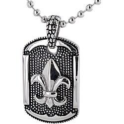 Stainless Steel Fleur De Lis Necklace
