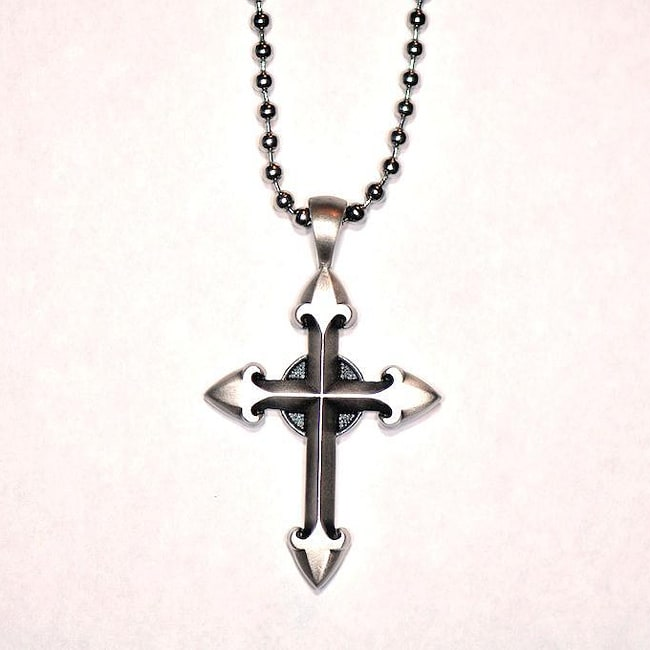 Bico australia fine grade pewter ethereal cross pendant for Bico australia jewelry pendants
