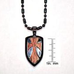 Bico Australia Fine Grade Pewter Galahad Shield Pendant Necklace - Thumbnail 2