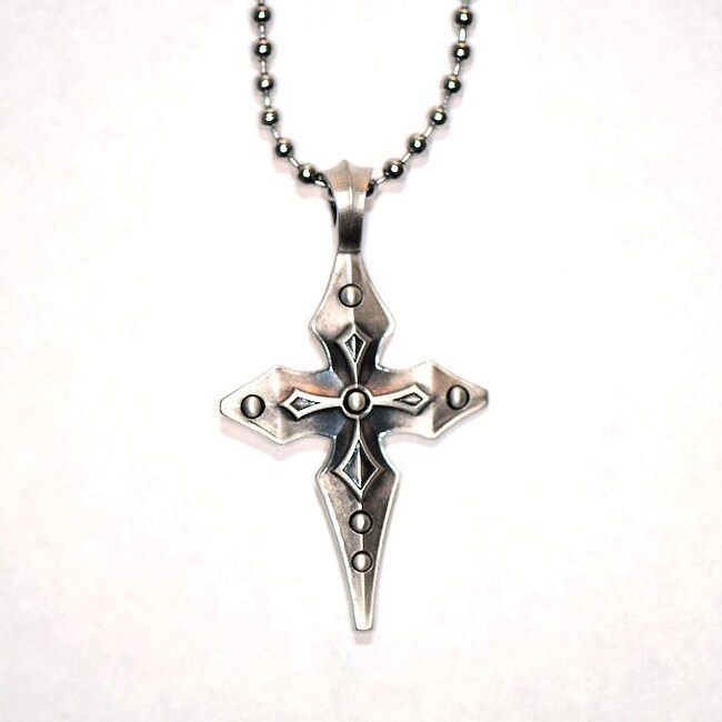 Bico australia fine grade pewter percival cross pendant for Bico australia jewelry pendants