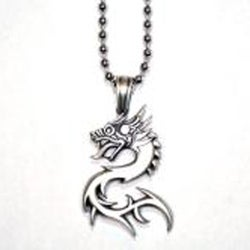 Fine Grade Pewter Nuwa Dragon Necklace
