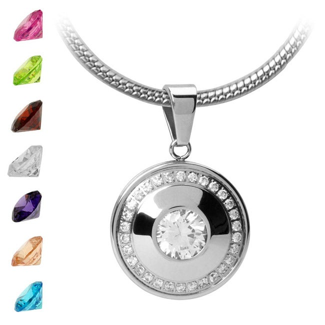 Inox Stainless Steel Multi-stone Necklace