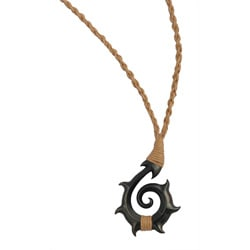 Bico Australia Pewter Faimalai Hand-woven Cord Surf Necklace