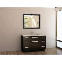 Design Element Solid Wood 48-inch Quartz Top Modern Single Sink Vanity Set
