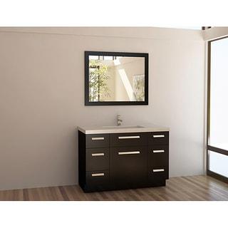 bathroom sink cabinets cheap. design element solid wood 48-inch quartz top modern single sink vanity set bathroom cabinets cheap