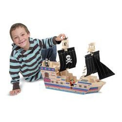 Melissa & Doug Deluxe Pirate Ship Play Set - Thumbnail 1