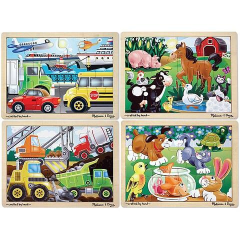 Melissa & Doug Jigsaw Puzzle Bundle (Pack of 4)