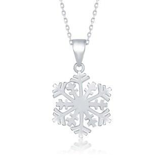 La Preciosa Sterling Silver Snowflake Pendant