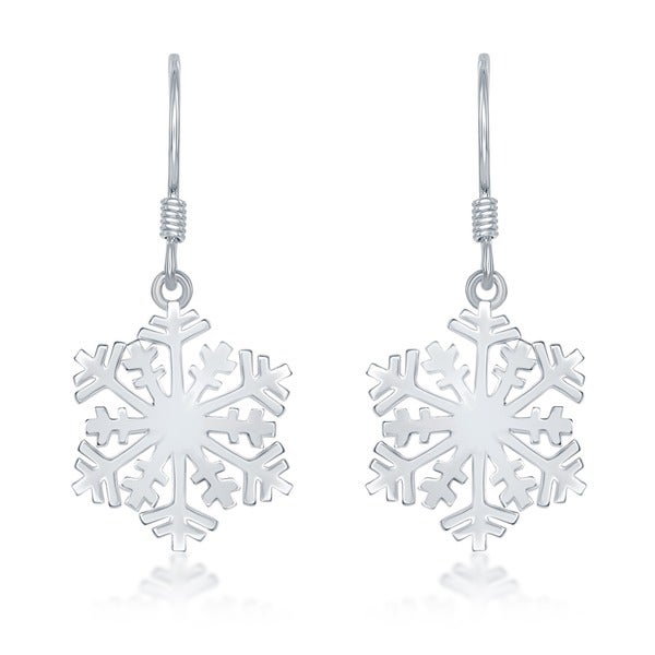 La Preciosa Sterling Silver Snowflake Earrings