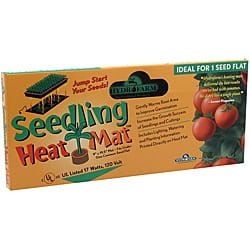 "Hydrofarm Seedling Heat Mat 17watts Boxed 10""x20""