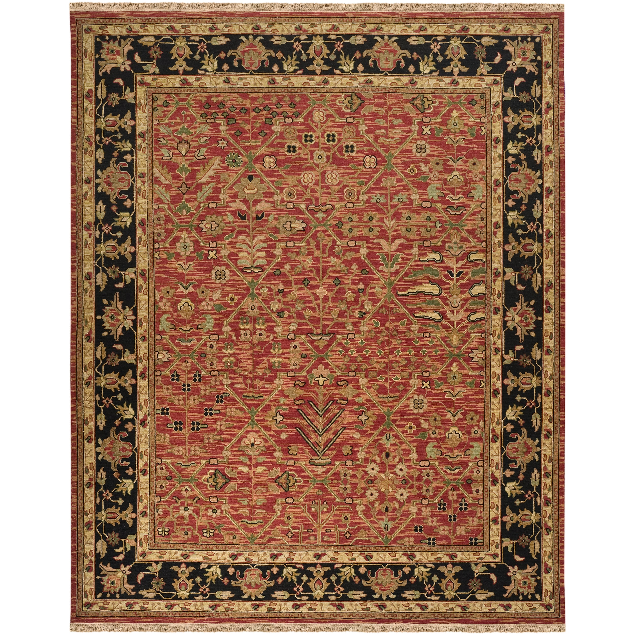Hand-knotted Lardeau Semi-worsted New Zealand Wool Rug (9' x 12')