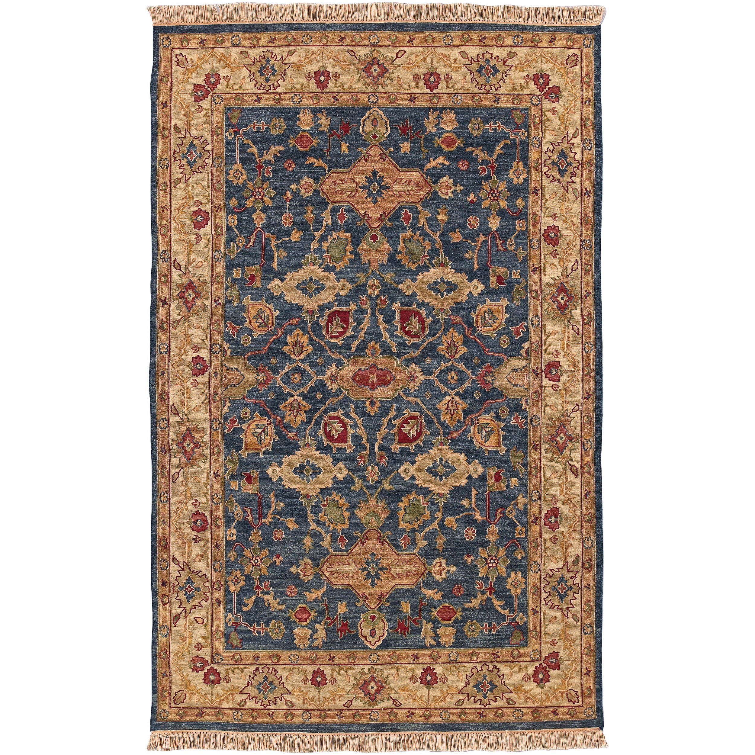 Hand-knotted Laramie Semi-worsted New Zealand Wool Area Rug (10' x 14')