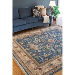 Hand-knotted Laramie Semi-worsted New Zealand Wool Rug (10' x 14') - Thumbnail 2