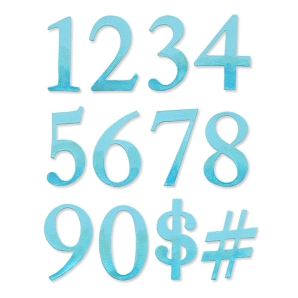 Sizzix Bigz Alphabet Serif Essentials Numbers Set