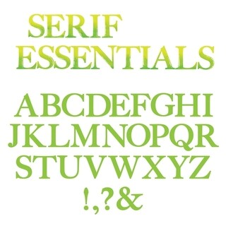Sizzix Bigz Alphabet Set 7 Dies - Serif Essentials