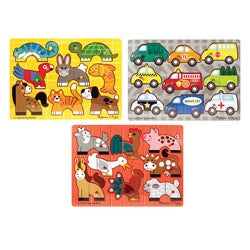 Melissa & Doug Mix 'N Match Puzzle Bundle (Set of 3)