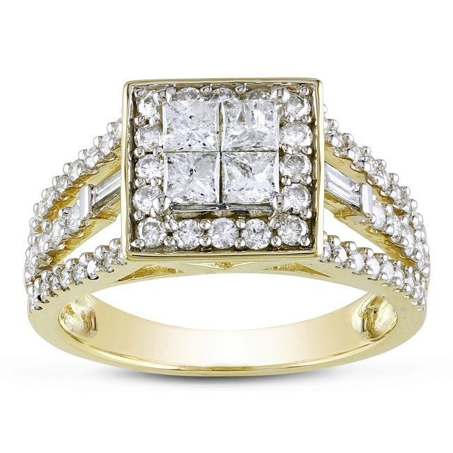 Miadora Signature Collection 14k Yellow Gold 1 1/2ct Prin...