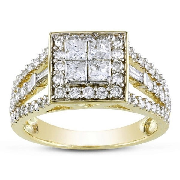 Miadora Signature Collection 14k Yellow Gold 1 1/2ct TDW Diamond Ring (G-H, I2-I3)